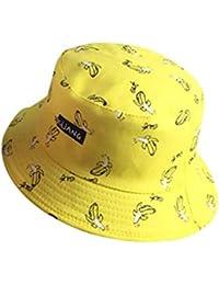 511680ac Bucket Hat Men's Ladies Outdoor Summer Fisherman Hat Vintage Classic Banana  Chips Canvas Hat Printed Sunhat