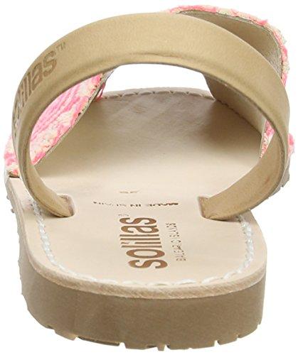 Solillas Rosa Geo, Scarpe Col Tacco con Cinturino a T Donna Pink (Pink)