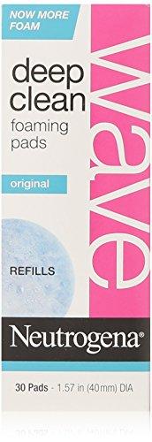 Neutrogena Wave Deep Clean Foaming Pad Refills, 30 Count by Neutrogena [Beauty] (English Manual)