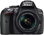 Nikon D5300 AF-P 18-55mm f/3.5-5.6G VR lens - 24 MP, SLR Camera, Black