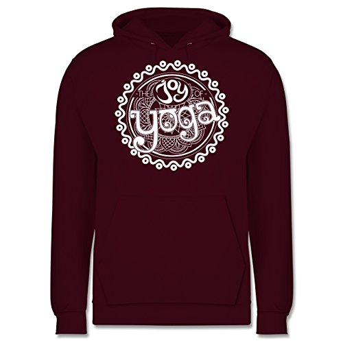 Wellness, Yoga & Co. - The joy of yoga - Männer Premium Kapuzenpullover / Hoodie Burgundrot