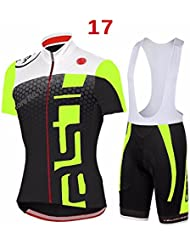 Pantalones Jersey manga corta ciclismo Jersey de bicicletas de secado rápido al aire libre + Pantalones cortos para hombres