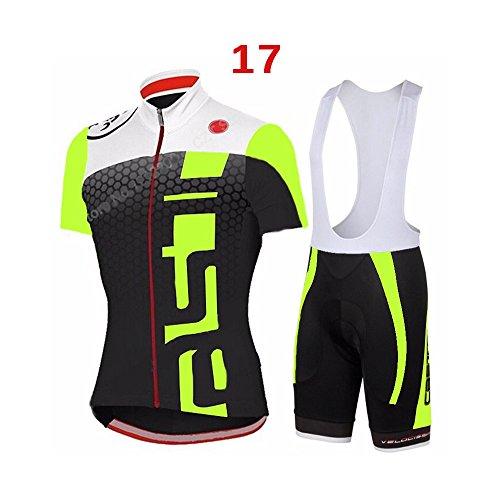 logas Herren Kurzarm Fahrrad Radfahren Jersey Quick Dry Außen Jersey + Shorts Hosen