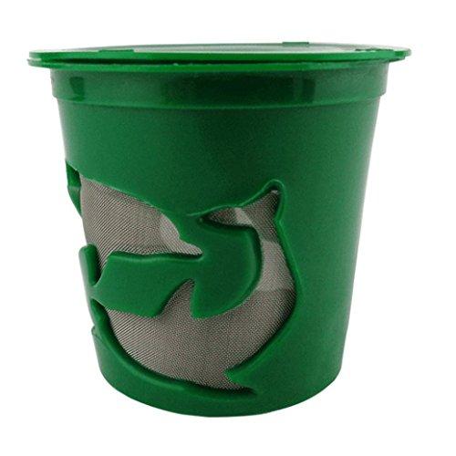 Jaminy Süßer Geschmack Kaffee-Kapsel-Filter Kunststoff Wiederaufladbar Kaffeekapseln (Grün)