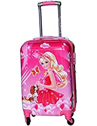 0eb2c427bc2f EXCLUSIVE FASHION LUGGAGE Girl s 360 Degree Polycarbonate Barbie Printed  Pattern Non-Breakable Rotating Lugguge Bag with Wheels…