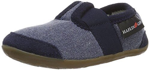 HaflingerChip - Pantofole Unisex - Bambini , Blu (Blu (Ocean)), 26