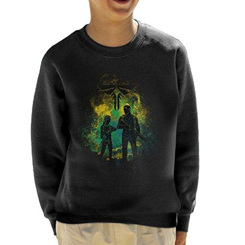 The Last Of Us Joel And Ellie Outline Kid's Sweatshirt (The Last Of Us Clicker)