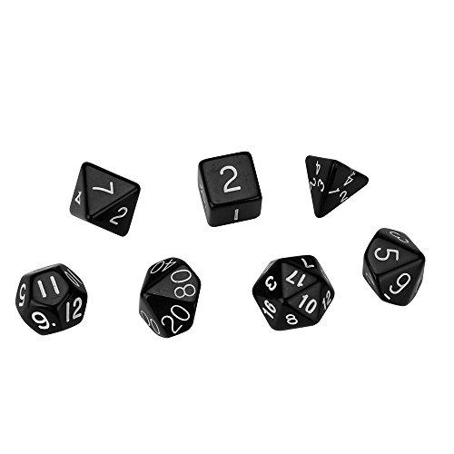(würfel Spielzeug Spiele Spiele Zubehör Würfel Zubehör Polyhedrische Rollenspiel Perlkorn D4-D20 Würfel mit mehreren Seiten für TRPG Spiel)
