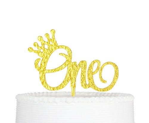 Tortenaufsatz, 1St Birthday Cake Topper, One Geburtstag Premium Qualität Acryl Tortenaufsatz, für Ersten Geburtstag Party Dekoration mit Karton Verpackung ()