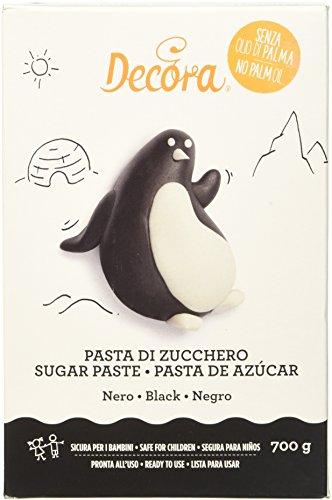 Decora Pasta di Zucchero, Nera - 700 g