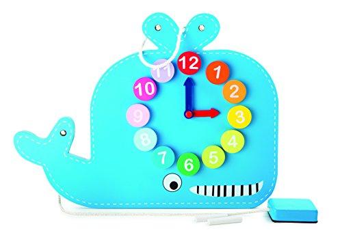 Small Foot - 10323 - Horloge Éducative et Tableau - Baleine