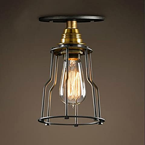 Neixy - Semi-Flush Mount Ceiling Light Industrial Edison Vintage Style Painted Finish for Hallway Study Room Warehouse Barn