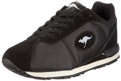 Kangaroos Oldschool-nylon, Women's Low-Top Sneakers, Black (blk/metallicgrey/wht/blk), 4 UK