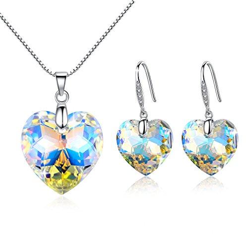 gosparking-aurora-borealis-crystal-heart-crystal-sterling-sivler-pendientes-y-colgante-conjunto-con-
