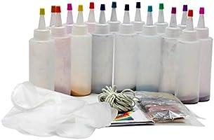 8 kleuren / 18 kleuren DIY Tie Dye Kit, Met elastiekjes Handschoenen, One-Step Tie Dye Set, Niet-giftig shirt Fabric Dye...
