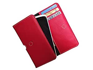 ATV PU Leather Imperial RED Pouch Case Flip Cover For Microsoft Lumia 640 LTE Dual SIM