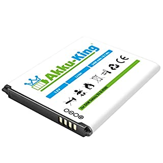 Akku-King Battery for Samsung Galaxy S3, i9300, GT-i9300 - replaces EB-L1G6LLU - Li-Ion 2400mAh