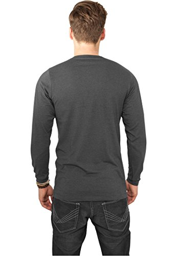 TB816 Fitted Stretch L/S Tee Langarmshirt Charcoal