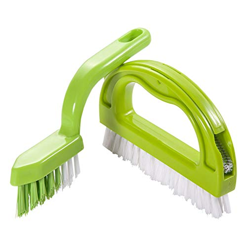 Foresight Fugenbürste für Bad, Küche und Haushalt - Reinigt effektiv Fugenfliesen und entfernt Schimmel oberflächlich - Grün ( 3Brush Included )