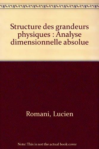 Structure des grandeurs physiques