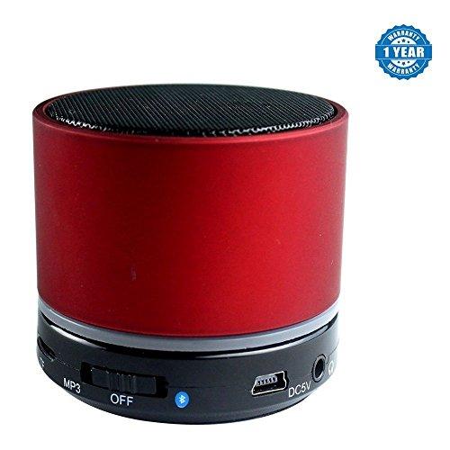 Drumstone Plastic and Metal Mini Bluetooth Speaker for Smartphones (S10, Assorted)