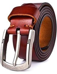 ba56a3d1dcde Alice   Elmer Men s Ultra-Soft Genuine Leather Belt(Black,Brown,Coffee