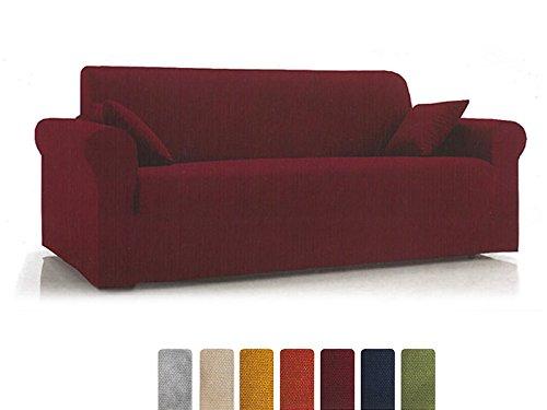 """Copridivano """"Easy"""" 3 posti in tessuto elasticizzato bielastico (colore da scegliere con una mail: Verde, Bordeaux, Blu, Giallo e Arancione)"""