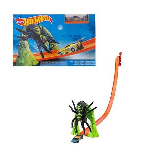 Hot Wheels Bahn - Erweiterung inkl. Auto - Danger Bridge - Spider Slam - Zombie Attack - Cyborg Challenge - Jump & Score - Stunt Loop (Spider Slam)
