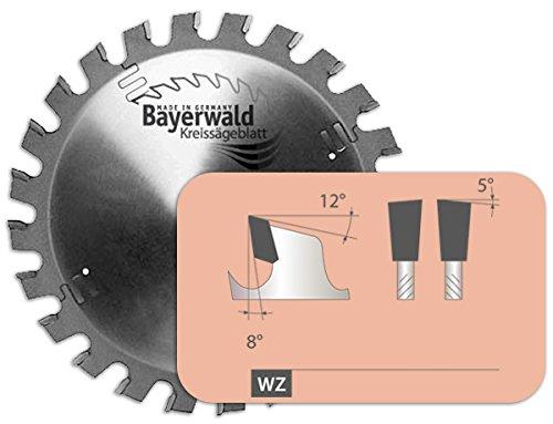 Bayerwald - HM Kreissägeblatt - Ø 156 mm x 2,8 mm x 12,7 mm | Wechselzahn (24 Zähne) | sehr robustes Allroundblatt - NAGELFEST für Bausägen