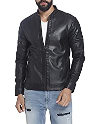 Jack & Jones Mens Synthetic Jacket (12117431_Black_X-Large)