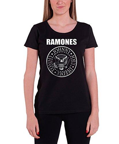 Ramones-band (Ramones Classic Seal Band Logo offiziell Damen Nue Skinny Fit T Shirt)