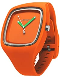 IO?ION!  BI-RGF25 - Reloj de cuarzo unisex, con correa de silicona, color naranja