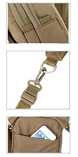 F@Camuffamento satteltasches pacchetto Fanny Pack vita borsa anca spalla fotocamera borsa all'aperto borsa borsa a tracolla militare satteltasches pacchetto-nera , khaki three camouflage
