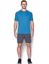 Under Armour Herren Tech Short Sleeve Tee Kurzarmshirt, Water/Black, M