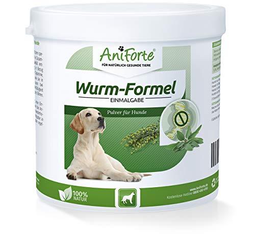 Artikelbild: AniForte Wurm-Formel 250 g für Hunde, Einmalgabe und 100 Prozent natürlich, Bei und nach Wurmbefall