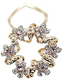 SANWOOD® Dame Luxury Rhinestone Blume Girlande Schal Clip Brosche Broach Pin Schmuck