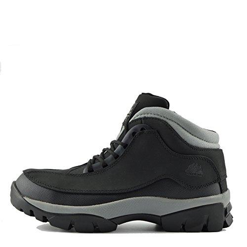 Kick Footwear - Herren Komfort Arbeit Sicherheit Stiefel Stahl Toe Cap Wasserdichtes Fundament - UK 6 / EU 40, Schwarz - Wasserdicht Steel Stiefel Arbeit Toe