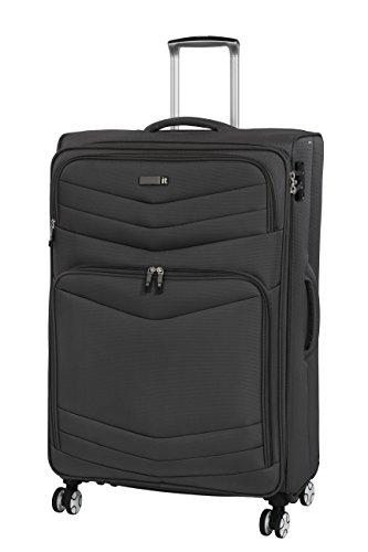 it luggage Intrepid 8 Wheel Lightweight Semi Expander Suitcase Large with TSA Lock Valigia, 80 cm, 132 liters, Grigio (Dark Gull Grey)
