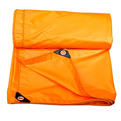 Bâches, Imperméable avec Oeillets , Feuille De De Résistance Aux Déchirures Orange en Polyéthylène - 420 G / (Taille : 4×6m)