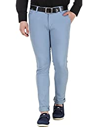 men in class Men's Slim Fit Cotton Lycra Blend Casual Stretchable Chinos 5 Colours