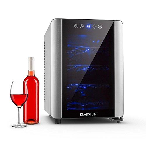 Klarstein vinovista cantinetta frigo 12 bottiglie 33 litri classe a nera - Cave a vin de conservation pas cher ...