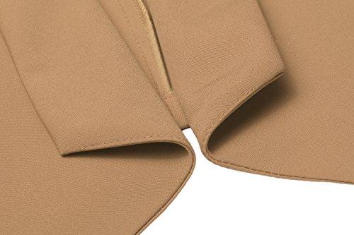 Lonlier Damen Elegant Blazer Jacke Mantel Jacket Kurzjacke Outwear Dunkelrot