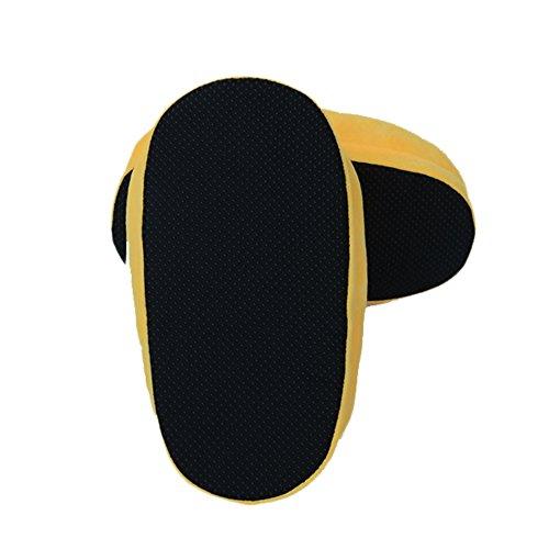 Pantoufles Chaussons Chaussures Emoji Peluche Homme Femme Enfant Adulte jaune ciel