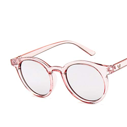 Sport-Sonnenbrillen, Vintage Sonnenbrillen, NEW Red Blue Round Sunglasses Women Fashion Pink Yellow Sun Glasses Vintage Retro Shades C12 pink silver
