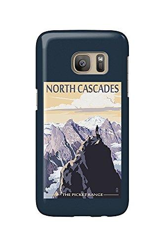 Washington Cascades (North Cascades, Washington - Mountain Peaks (Galaxy S7 Cell Phone Case, Slim Barely There))
