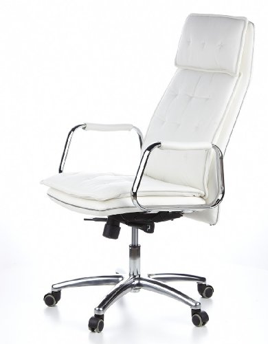 HJH OFFICE 600922 Bürostuhl / Chefsessel VILLA 20 Nappaleder elfenbein - 14