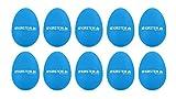10x Kirstein ES-10B Egg Shaker (Medium Version, Schüttelei, Percussion, Rassel, robuste Kunststoff-Hülle, durchsetzungsfähiger Klang) blau