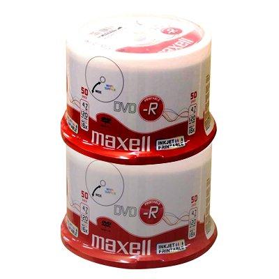 Maxell DVD-R 4.7 GB full printable 16x - 100 Stück in Cakebox (Dvd-r Bedruckbar)