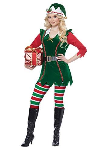 Festive Elf Fancy Dress Costume ()