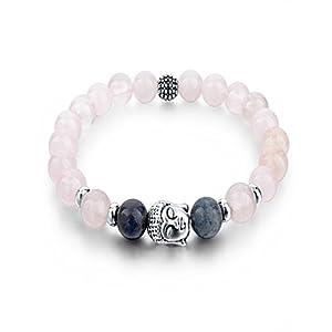Healing Accessories Natural Stones, Buddha Charm Reiki/Yoga Positive Energy Beads Stylish Bracelet Fashion Jewellery.